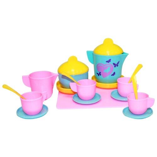 Набор посуды Пластмастер Праздник 21072 разноцветныйИгрушечная еда и посуда<br>