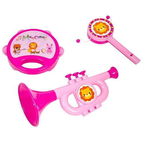 Купить Yako набор инструментов Моей деточке M7663-3/Н93807 розовый, Детские музыкальные инструменты