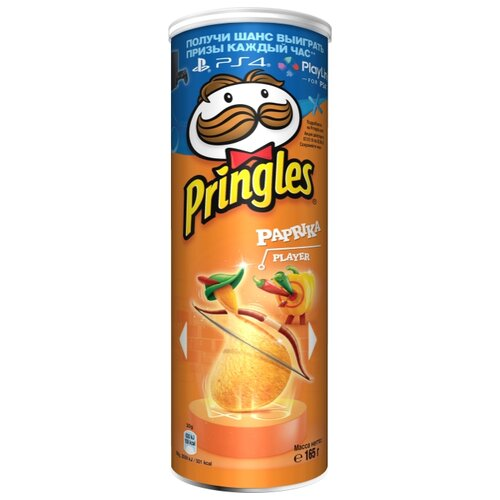 Чипсы Pringles картофельные Paprika, 165 г
