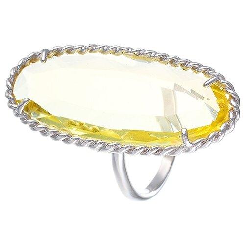 JV Кольцо с стеклом из серебра B3205A-US-005-WG, размер 17 jv кольцо с ювелирным стеклом из серебра b3198 us 011 wg размер 17 5