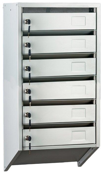 Почтовый ящик ПРОМЕТ PB-6C KL 830х390 мм, серый