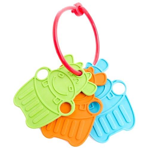 Купить Прорезыватель-погремушка Пластмастер Милые зверята зеленый / оранжевый / голубой, Погремушки и прорезыватели