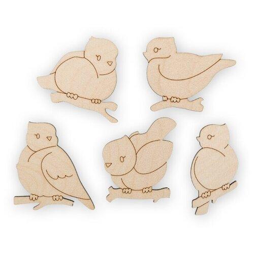 Купить Mr. Carving Набор заготовок для декорирования Пташки ВД-463 (5 шт.) бежевый, Декоративные элементы и материалы