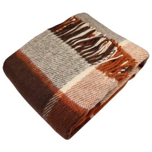 цена Плед ARLONI Традиция 140 х 200 см, рыжий/коричневый онлайн в 2017 году