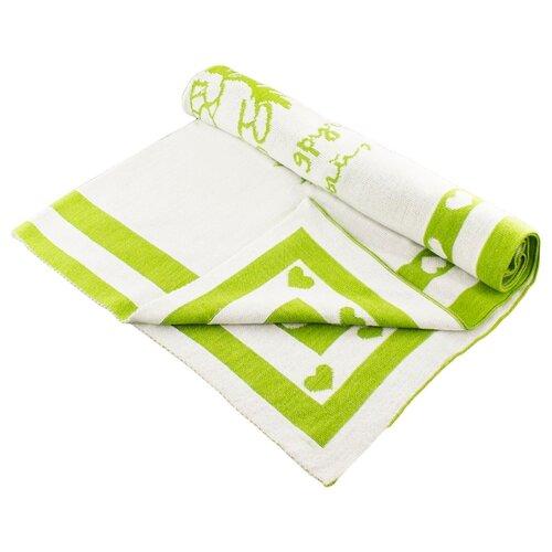 Купить Плед LEO 1611 90x100 зелёный ёжик, Покрывала, подушки, одеяла
