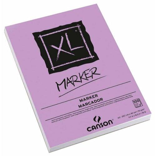 Альбом для маркеров Canson XL Marker 42 х 29.7 см (A3), 70 г/м², 100 л. альбом canson xl bristol 42 х
