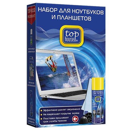 Купить Набор Top House для ноутбуков и планшетов чистящий спрей+сухая салфетка для ноутбука, для экрана
