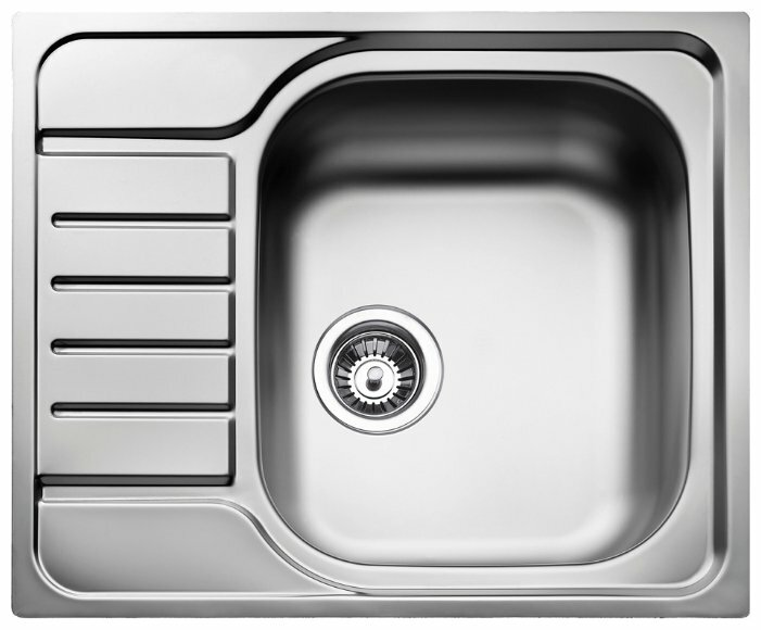 Врезная кухонная мойка TEKA E 50 1B 580x500 58х50см нержавеющая сталь