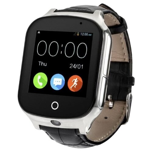 цена Часы Smart Baby Watch T100 / A19 черная кожа онлайн в 2017 году