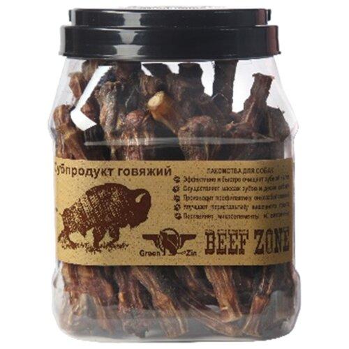 лакомство greenqzin beef zone сушеное говяжье мясо полосками 3 дюйма субпродукт говяжий для собак 400г bz3st Лакомство для собак Green Qzin Beef zone Сушеное говяжье мясо 6, 25шт. в уп.