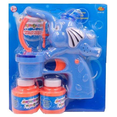 Мыльные пузыри Мерцающие пузырики в наборе, звуковые и световые эффекты , S-00153 оранжевый/синий