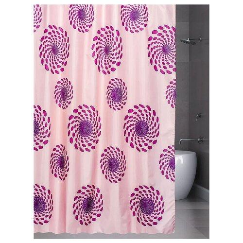 Штора для ванной Bath Plus Cyclone 180х180 розовый/сиреневый