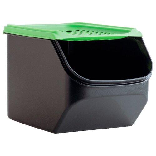 "Tupperware Контейнер ""Дыхание"" 3000 мл черный/зеленый"
