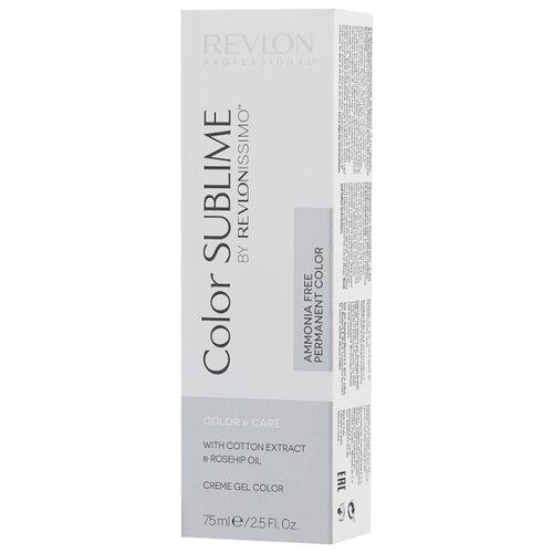 Revlon Professional Revlonissimo Color Sublime стойкая краска для волос, 75 мл, 6.3 темный блондин золотистый