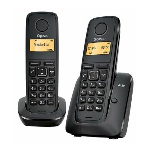 Радиотелефон Gigaset A120 Duo черный