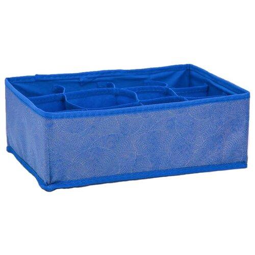 Доляна Органайзер для белья 12 ячеек 27 х 20 х 10 см фабьен доляна кофр для хранения вещей 80 х 45 х 15 см волна