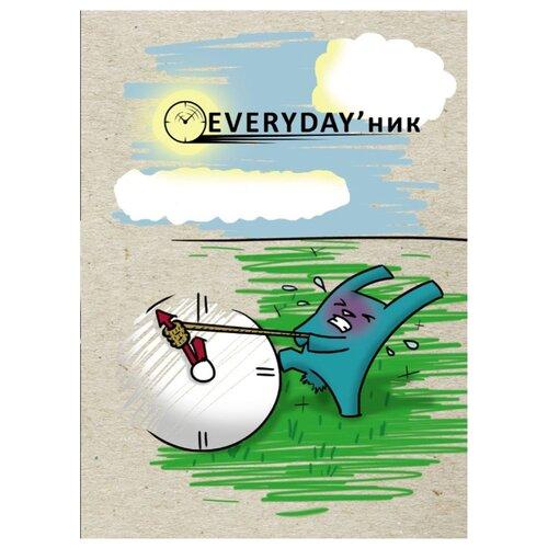 """Ежедневник Проф-Пресс Everyday'ник """"Крол. Начало"""" недатированный, А5, 80 листов, серый/голубой"""