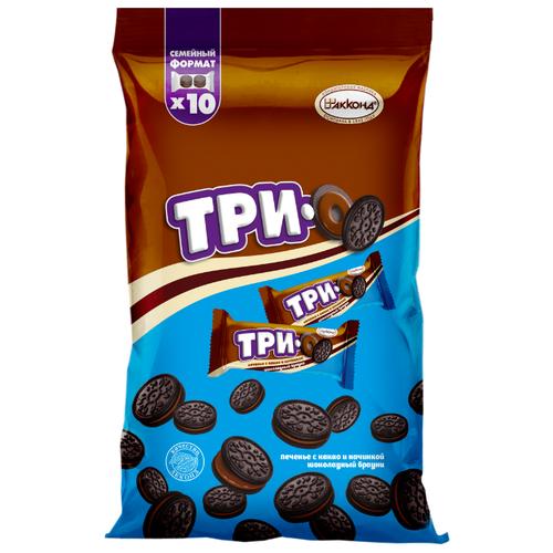 Печенье АККОНД Трио какао с начинкой шоколадный брауни 460 г