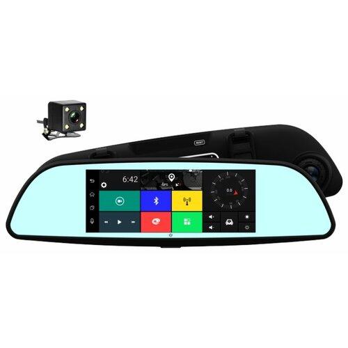 Видеорегистратор TrendVision aMirror Slim, 2 камеры, GPS черный