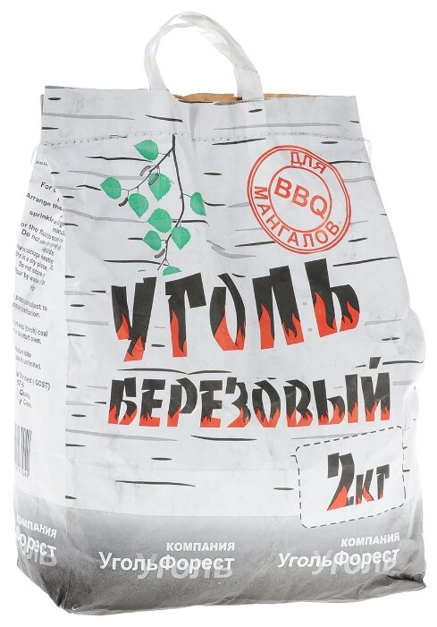 УгольФорест Уголь березовый для мангалов, 2 кг