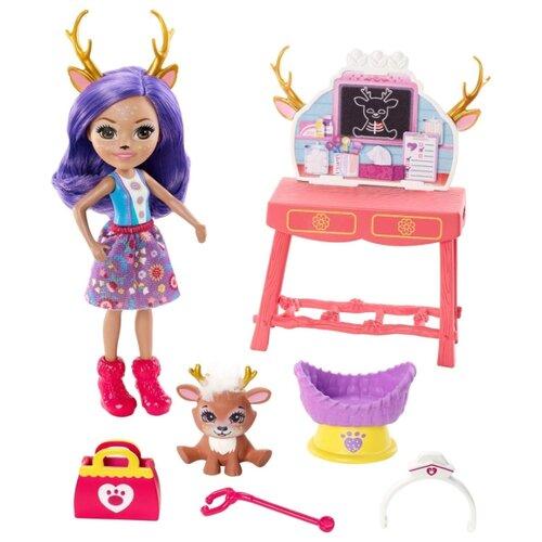 Кукла Enchantimals Ветеринарная клиника Данессы Оленя и Спринт, GBX04Куклы и пупсы<br>