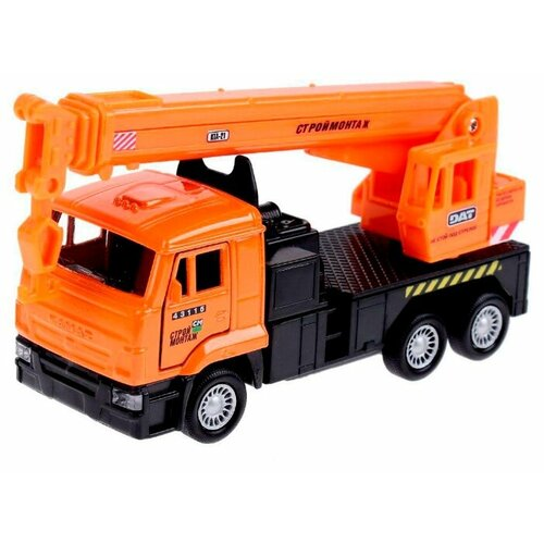 Купить Автокран ТЕХНОПАРК КамАЗ (SB-16-23WB) 12 см оранжевый/черный, Машинки и техника