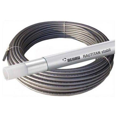 Труба из сшитого полиэтилена армированная алюминием REHAU Rautitan stabil 25 универсальная, DN18 мм 30 м серый по цене 17 194