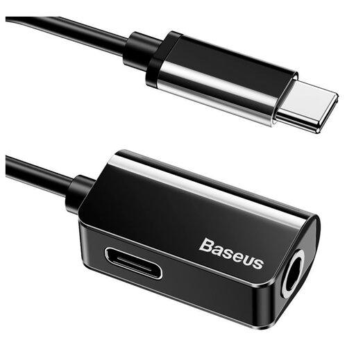 Купить Переходник Baseus USB Type-C - USB Type-C/jack 3.5mm (L40) 0.12 м черный
