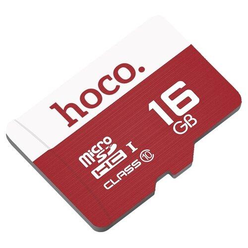Карта памяти Hoco Micro SDHC 16GB красный