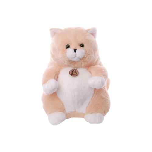 Мягкая игрушка Lapkin Толстый кот персиковый 33 см