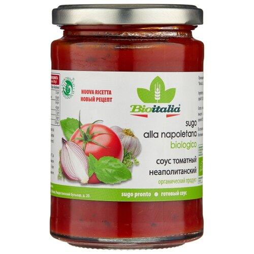 Соус Bioitalia Томатный неаполитанский, 350 г unidan соус томатный с хреном 500 г