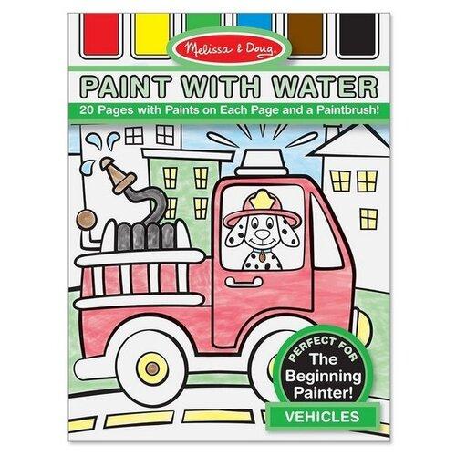 Купить Melissa & Doug Paint with water. Транспорт, Раскраски