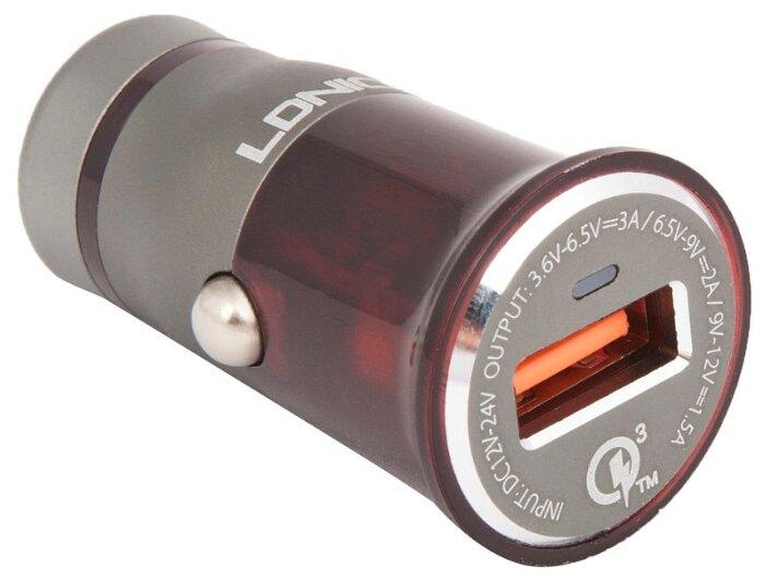 Автомобильная зарядка LDNIO C304Q + USB Type-C