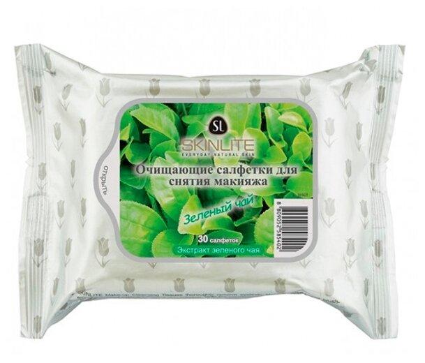 Skinlite очищающие салфетки для снятия макияжа Зеленый