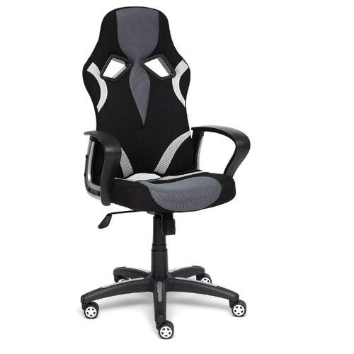 Компьютерное кресло TetChair Runner игровое, обивка: текстиль, цвет: черный/серый 2603/12/14 компьютерное кресло tetchair runner игровое обивка текстиль искусственная кожа цвет черный желтый