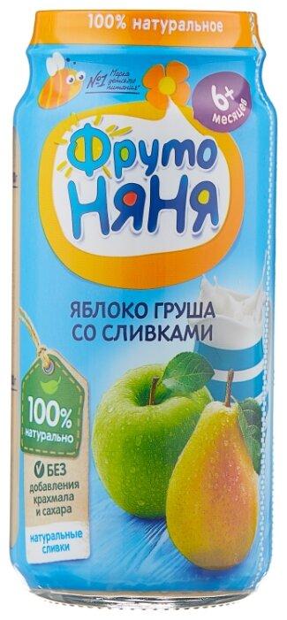 Пюре ФрутоНяня из яблок и груш со сливками (с 6 месяцев) 250 г, 1 шт.