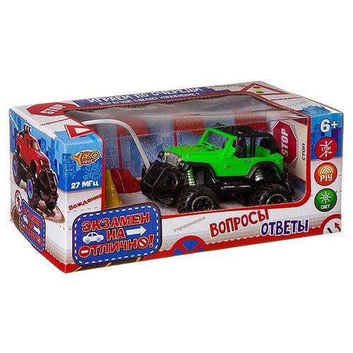 Купить Внедорожник Yako Экзамен на отлично (М87588) 1:43 зеленый, Радиоуправляемые игрушки