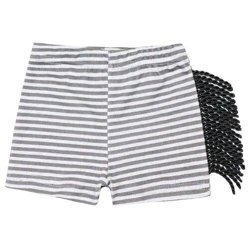 Купить Шорты KotMarKot Зебра 5270472 размер 62, серый, Брюки и шорты
