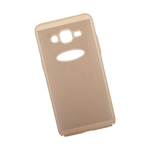 Чехол Liberty Project Сетка Soft Touch для Samsung J2 Prime золотой
