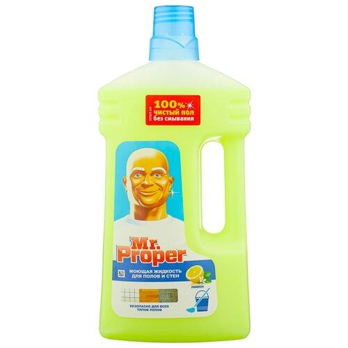 Mr. Proper Моющая жидкость для полов и стен Лимон 1 л средство д пола и кухни mr proper лимон проф 5л