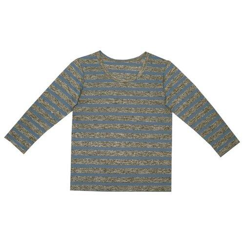 Лонгслив ПАНДА дети размер 86, индиго/полоскаФутболки и рубашки<br>