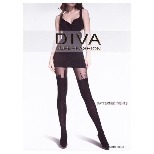 Колготки DIVA SUPERFASHION DK-70 380 den, размер free size, черный колготки diva superfashion secret 128 380 den размер free size черный черный