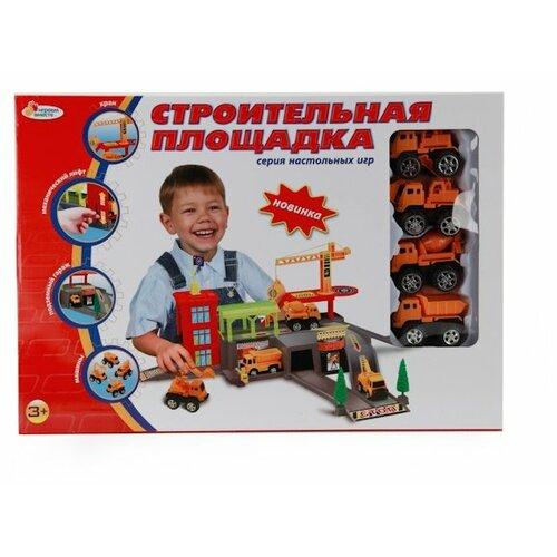 Купить Играем вместе Строительная площадка желтый/красный/зеленый/оранжевый/серый, Детские парковки и гаражи