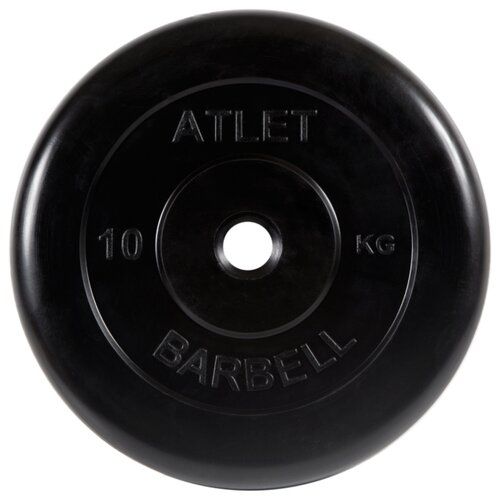 Диск MB Barbell MB-AtletB26 10 кг черный диск mb barbell mb atletb26 10 кг черный