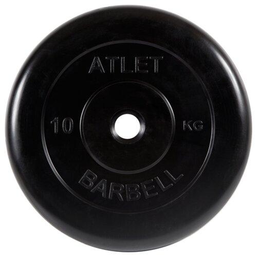 Диск MB Barbell MB-AtletB26 10 кг черный
