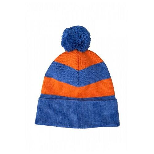 Купить Шапка бини Oldos размер 50-52, синий/оранжевый, Головные уборы