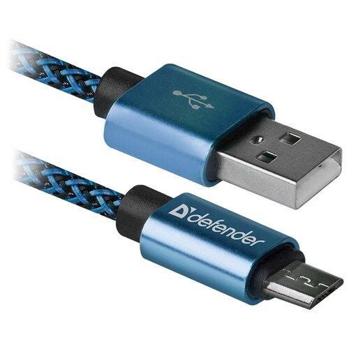 Купить Кабель Defender USB - microUSB (USB08-03T PRO) 1 м синий