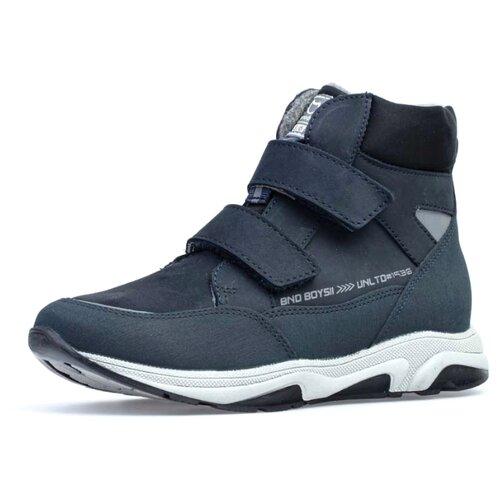 Фото - Ботинки КОТОФЕЙ размер 37, синий ботинки для мальчика котофей цвет синий салатовый 554047 41 размер 30