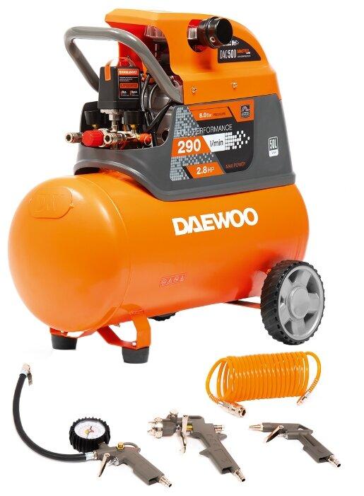 Компрессор масляный Daewoo Power Products DAC 50D, 50 л, 2.1 кВт