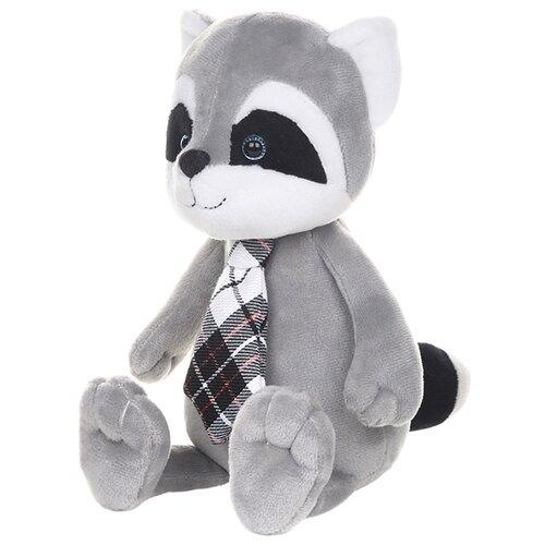Купить Мягкая игрушка Maxitoys Романтичный енотик в клетчатом галстучке 20 см, Мягкие игрушки
